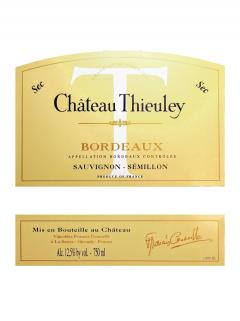 Château Thieuley 2016 12 bouteilles (12x75cl)