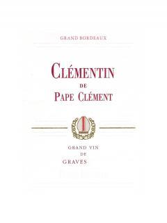 Clémentin de Pape Clément 2013 Caisse bois d'origine de 12 bouteilles (12x75cl)