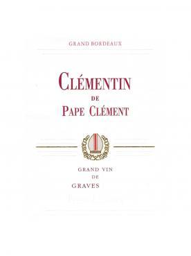 Clémentin de Pape Clément 2016 Caisse bois d'origine de 6 bouteilles (6x75cl)