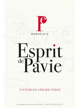 Esprit de Pavie 2014 Caisse bois d'origine de 12 demi bouteilles (12x37.5cl)