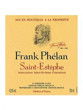 Frank Phélan 2015 Caisse bois d'origine de 24 demi bouteilles (24x37.5cl)