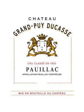 Château Grand-Puy Ducasse 2017 Caisse bois d'origine de 6 bouteilles (6x75cl)