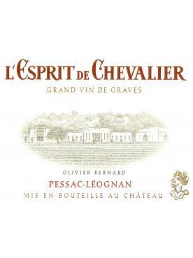 L'Esprit de Chevalier 2015 Caisse bois d'origine de 12 bouteilles (12x75cl)