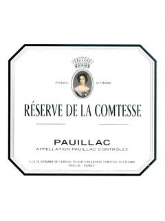 La Réserve de la Comtesse 2016 Caisse bois d'origine de 6 bouteilles (6x75cl)