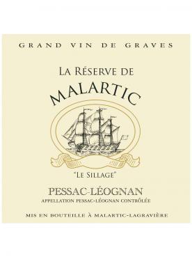 La Réserve de Malartic 2013 Caisse bois d'origine de 12 bouteilles (12x75cl)