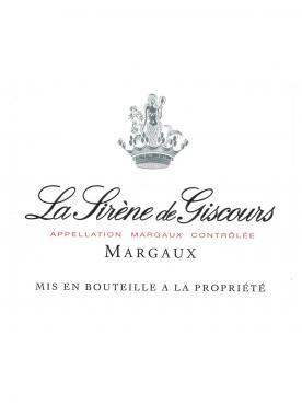 La Sirène de Giscours 2012 Caisse bois d'origine de 6 bouteilles (6x75cl)