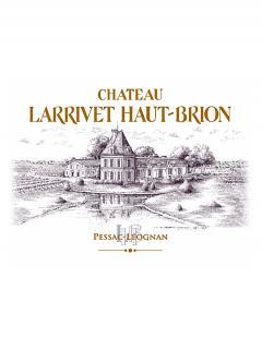 Château Larrivet Haut-brion 2015 Caisse bois d'origine de 6 bouteilles (6x75cl)