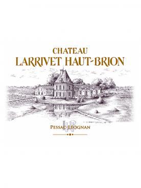 Château Larrivet Haut-brion 2012 Caisse bois d'origine de 6 bouteilles (6x75cl)
