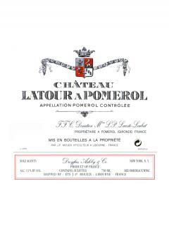 Château Latour à Pomerol 2015 Caisse bois d'origine de 12 bouteilles (12x75cl)