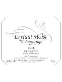 Le Haut Médoc de Lagrange 2012 6 bouteilles (6x75cl)