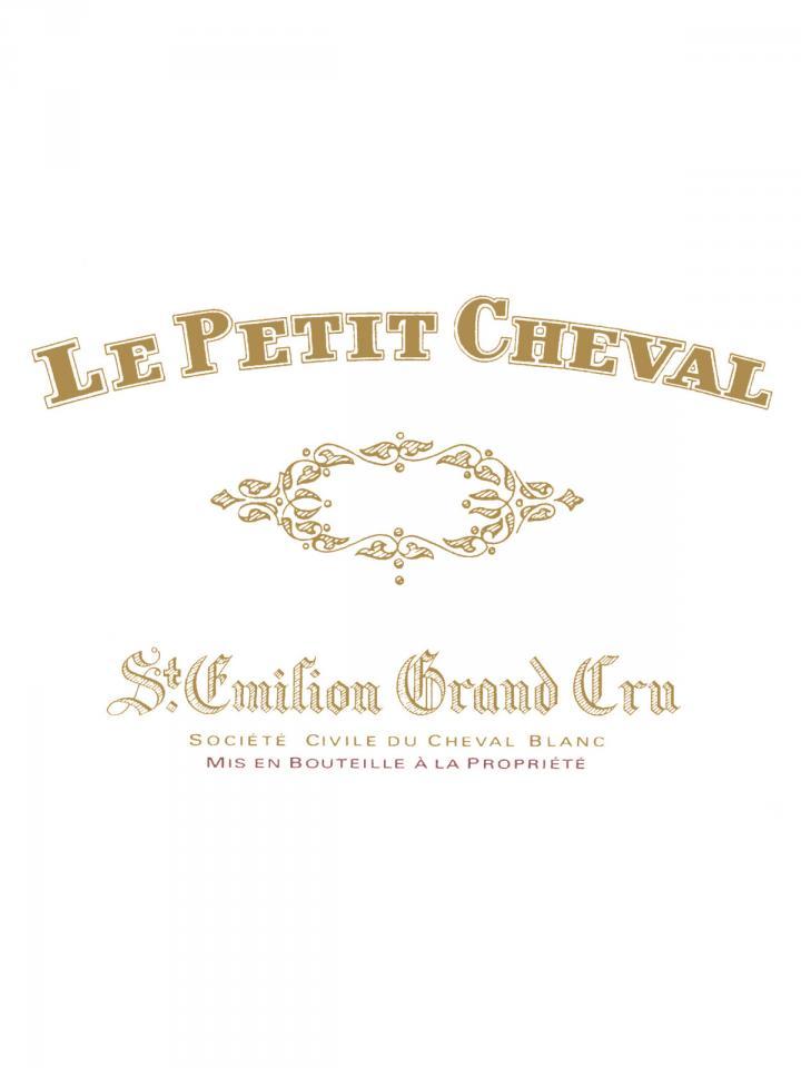 Le Petit Cheval 2012 Caisse bois d'origine de 6 bouteilles (6x75cl)