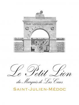 Le Petit Lion du Marquis de Las Cases 2016 Caisse bois d'origine de 6 bouteilles (6x75cl)