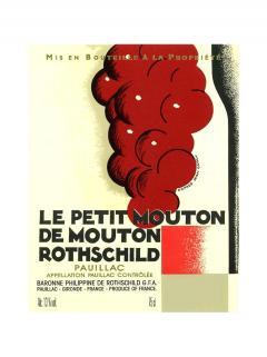 Le Petit Mouton de Mouton Rothschild 2013 Caisse bois d'origine de 6 bouteilles (6x75cl)
