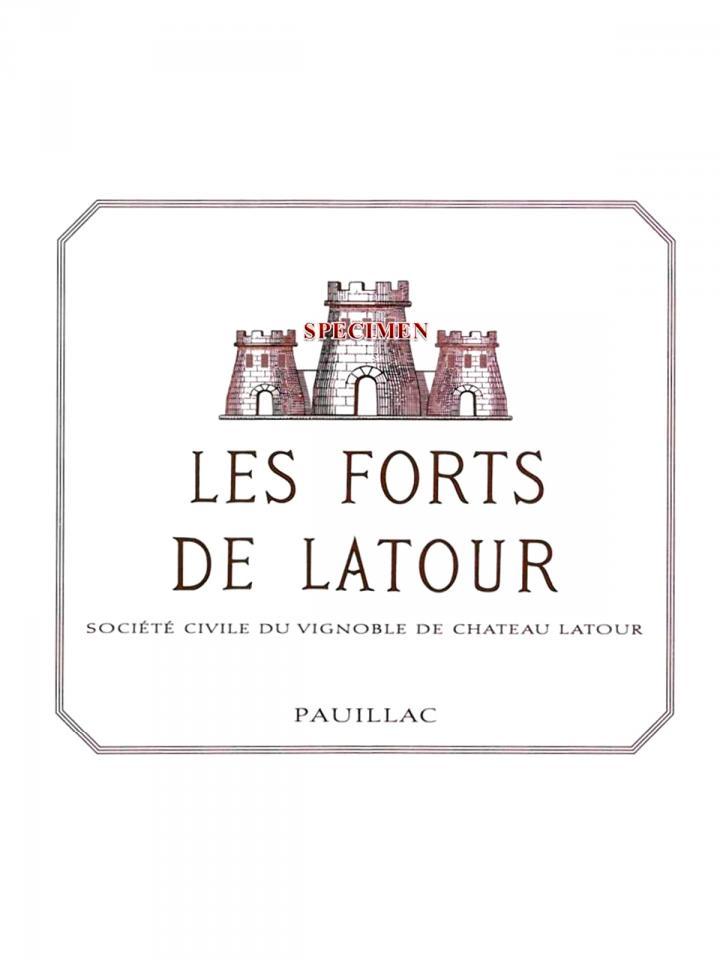Les Forts de Latour 2009 Caisse bois d'origine de 6 bouteilles (6x75cl)