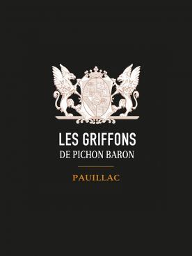 Les Griffons de Pichon Baron 2015 Caisse bois d'origine de 12 bouteilles (12x75cl)