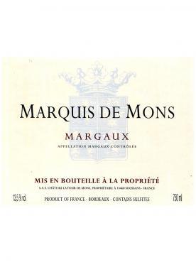 Marquis de Mons 2016 Caisse bois d'origine de 12 bouteilles (12x75cl)