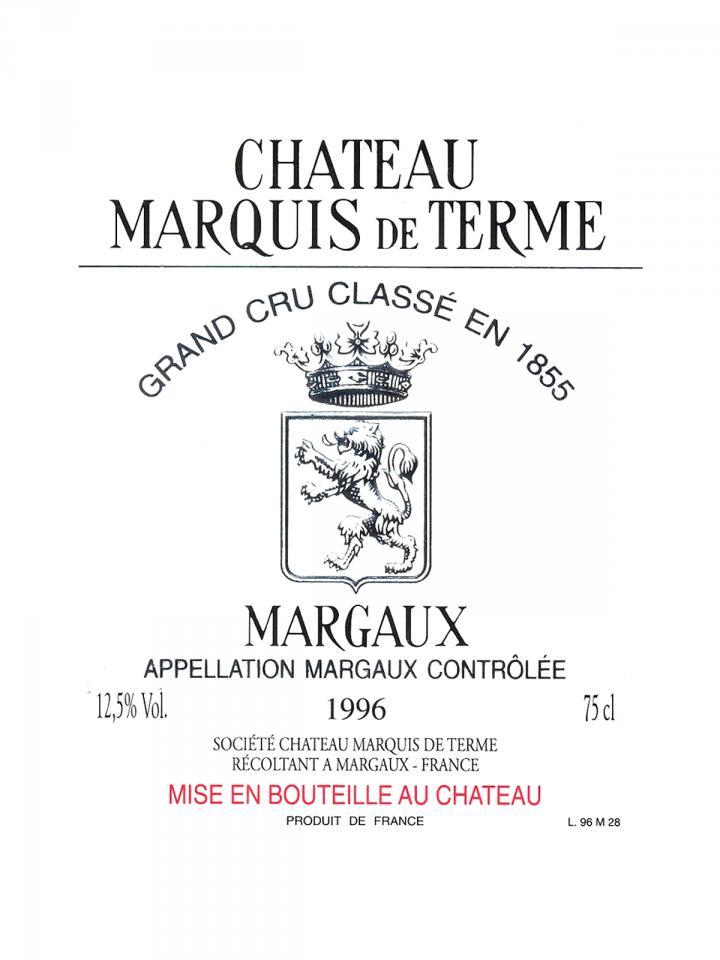 Château Marquis de Terme 2013 Caisse bois d'origine de 6 bouteilles (6x75cl)