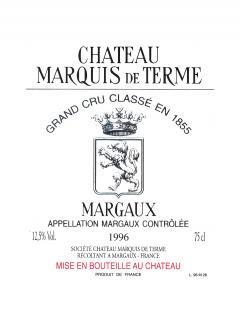Château Marquis de Terme 2016 Caisse bois d'origine de 6 bouteilles (6x75cl)