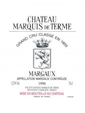 Château Marquis de Terme 2005 Caisse bois d'origine de 12 bouteilles (12x75cl)