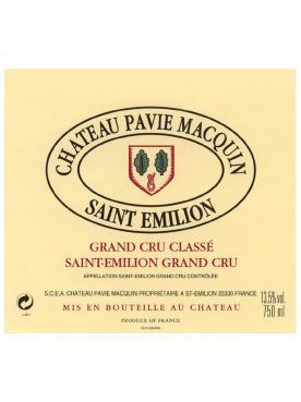 Château Pavie Macquin 2014 Caisse bois d'origine d'un double magnum (1x300cl)