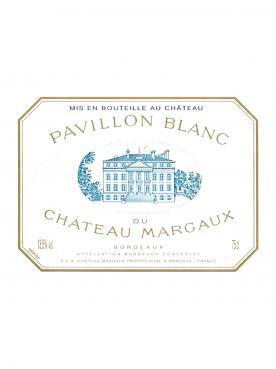 Pavillon Blanc du Château Margaux 2013 Caisse bois d'origine de 3 bouteilles (3x75cl)