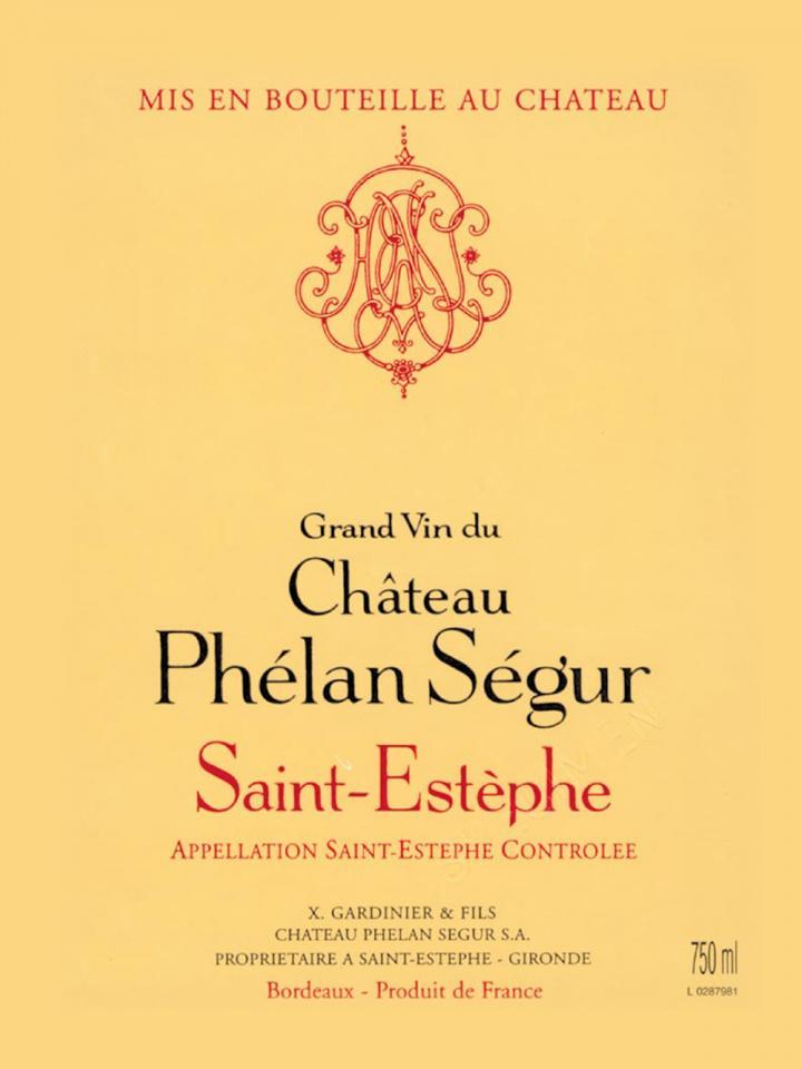 Château Phélan Ségur 2012 Caisse bois d'origine de 6 bouteilles (6x75cl)