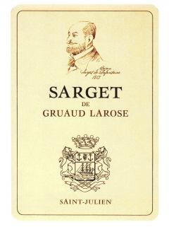 Sarget de Gruaud Larose 2011 12 bouteilles (12x75cl)
