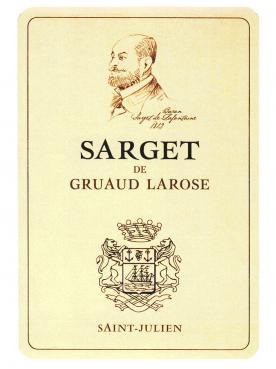 Sarget de Gruaud Larose 2003 12 bouteilles (12x75cl)