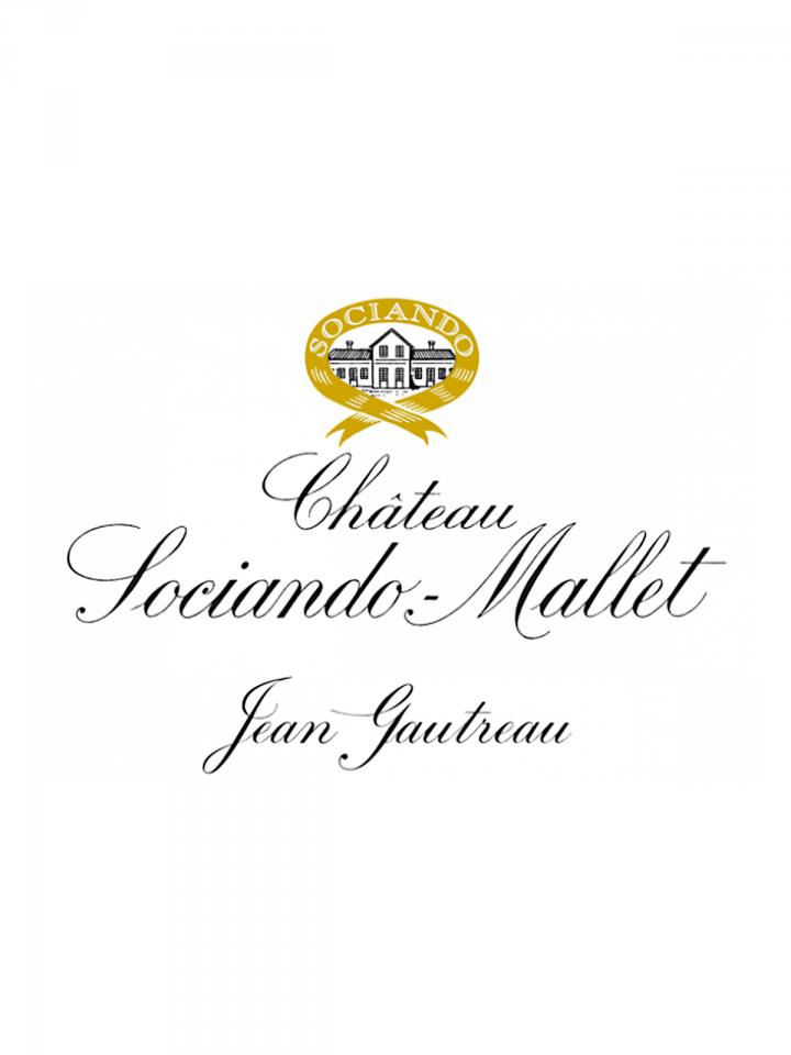 Château Sociando-Mallet 2013 Caisse bois d'origine d'une bouteille (1x75cl)