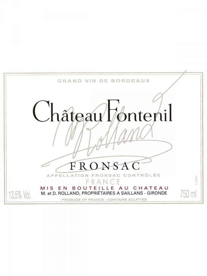 Château Fontenil 2013 Caisse bois d'origine de 6 bouteilles (6x75cl)