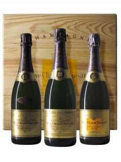 Champagne Veuve Clicquot Ponsardin Trilogie Brut 1988, 1989 & 1990 Caisse bois d'origine de 3 bouteilles (3x75cl)