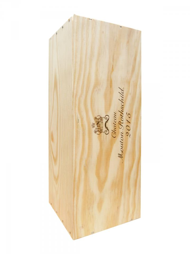 Château Mouton Rothschild 2015 Caisse bois d'origine d'un double magnum (1x300cl)
