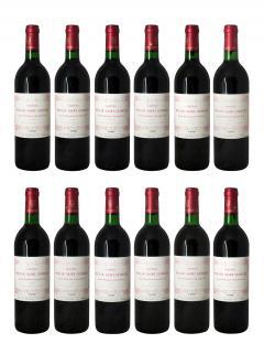 Château Moulin Saint-Georges 1990 Caisse bois d'origine de 12 bouteilles (12x75cl)