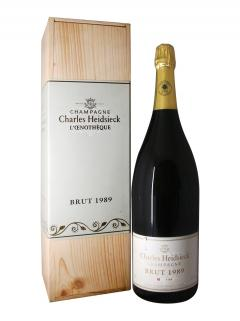 Champagne Charles Heidsieck L'oenothèque Brut 1989 Caisse bois d'origine d'un jéroboam (1x300cl)