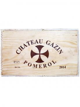 Château Gazin 2014 Caisse bois d'origine de 6 magnums (6x150cl)