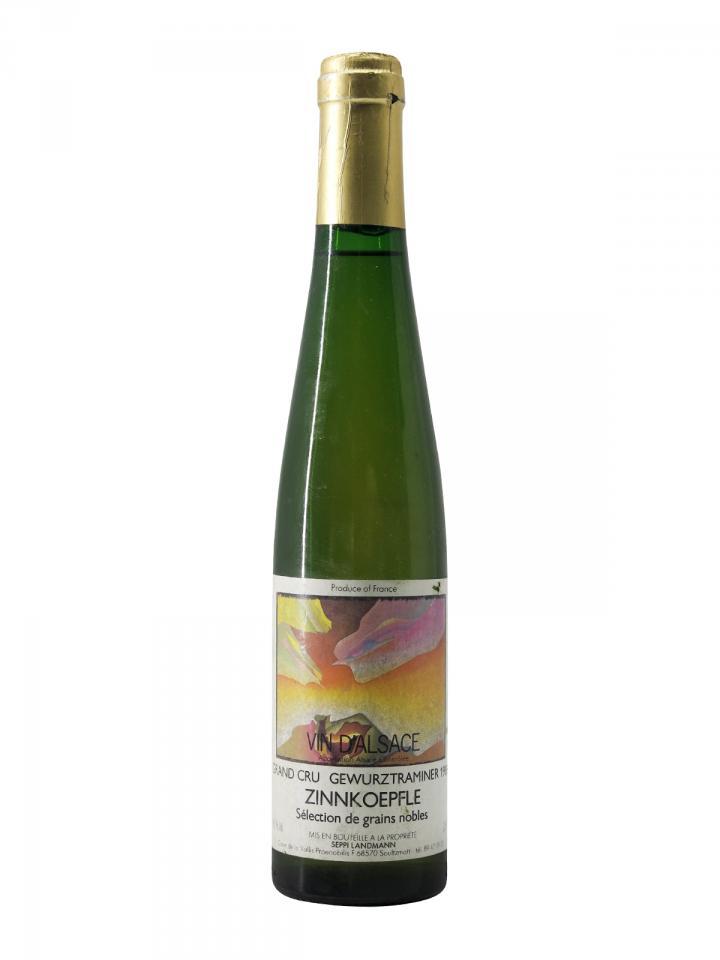 Gewürztraminer Grand Cru Zinnkoepfle Sélection de Grains Nobles Seppi Landmann 1988 Demie bouteille (37.5cl)