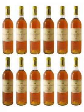 Château de Fargues 1981 Caisse bois d'origine de 12 bouteilles (12x75cl)