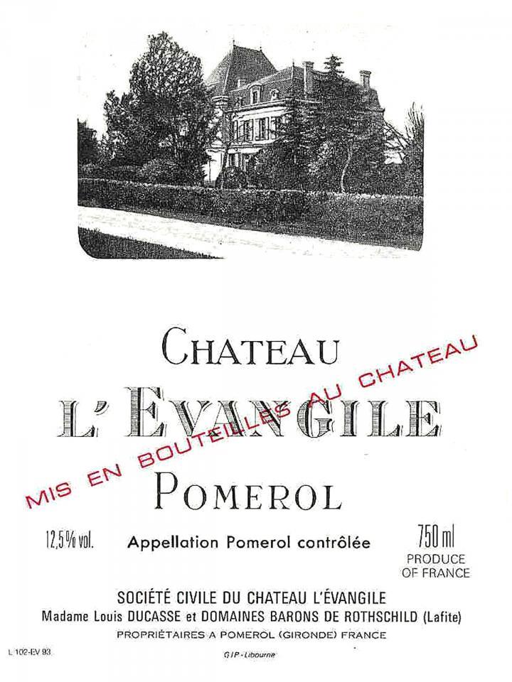Château l'Evangile 2012 Caisse bois d'origine de 6 bouteilles (6x75cl)