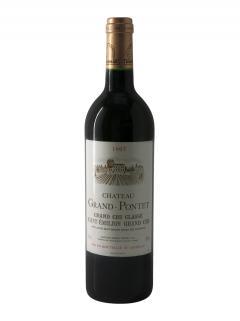 Château Grand Pontet 1997 Caisse bois d'origine de 12 bouteilles (12x75cl)