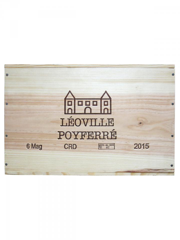 Château Léoville Poyferré 2015 Caisse bois d'origine de 6 magnums (6x150cl)
