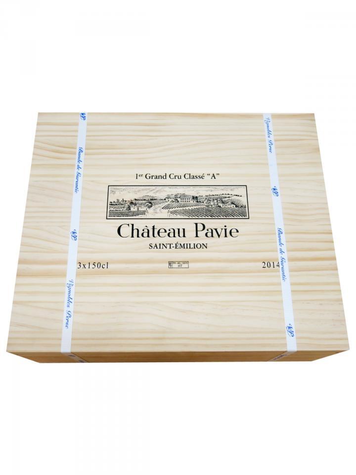 Château Pavie 2014 Caisse bois d'origine de 3 magnums (3x150cl)