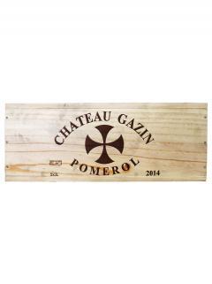 Château Gazin 2014 Caisse bois d'origine de 3 double magnums (3x300cl)