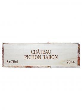 Château Pichon-Longueville Baron 2014 Caisse bois d'origine de 6 bouteilles (6x75cl)