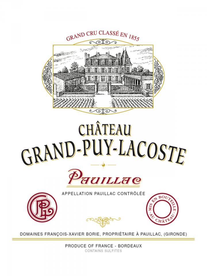 Château Grand-Puy-Lacoste 2012 Caisse bois d'origine de 12 bouteilles (12x75cl)