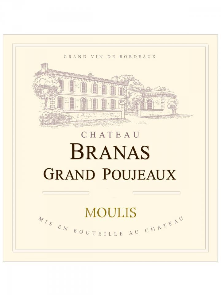 Château Branas Grand Poujeaux 2012 Caisse bois d'origine de 6 bouteilles (6x75cl)