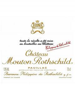 Château Mouton Rothschild 1995 Caisse bois d'origine de 12 bouteilles (12x75cl)