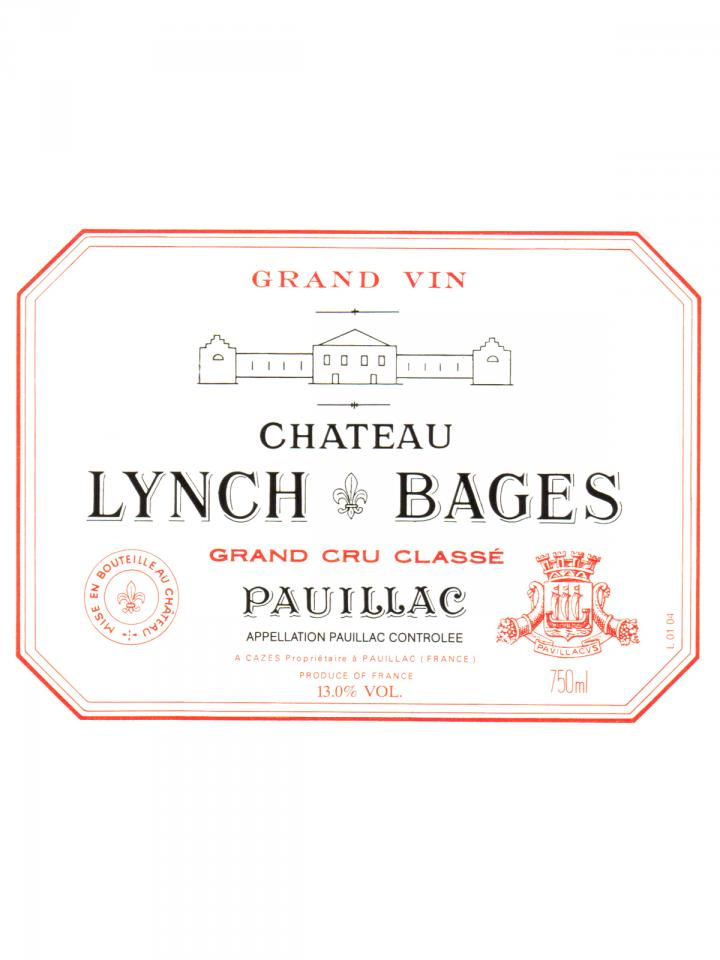 Château Lynch Bages 2000 Caisse bois d'origine de 12 bouteilles (12x75cl)