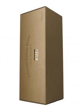 Château Cheval Blanc 2018 Caisse bois d'origine d'une impériale (1x600cl)