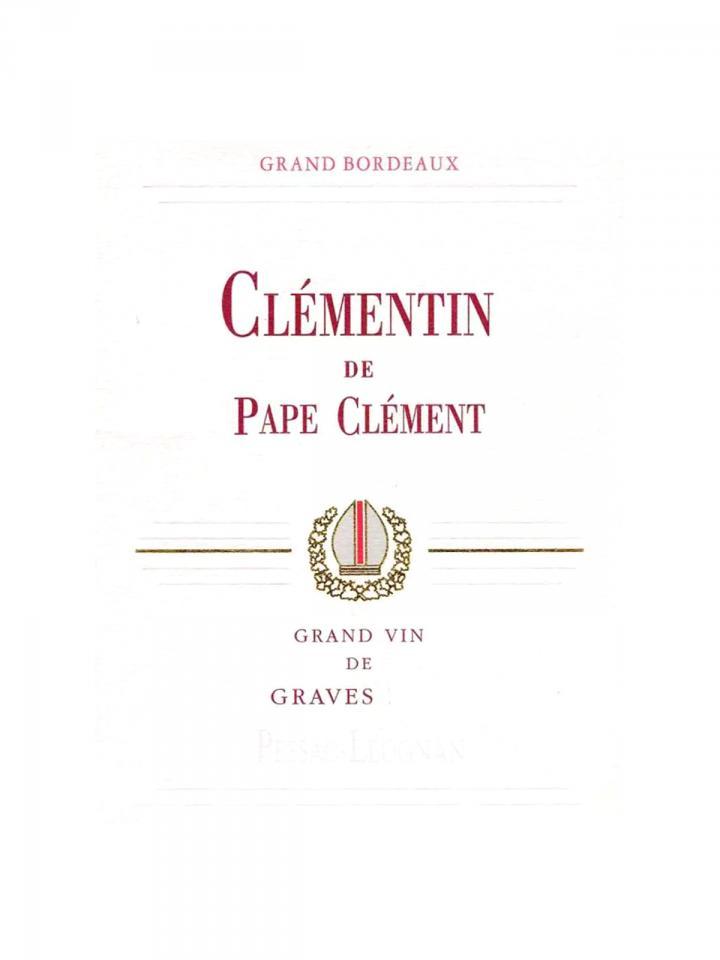 Clémentin de Pape Clément 2013 Caisse bois d'origine de 6 bouteilles (6x75cl)