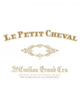 Le Petit Cheval 2008 Caisse bois d'origine de 12 demi bouteilles (12x37.5cl)